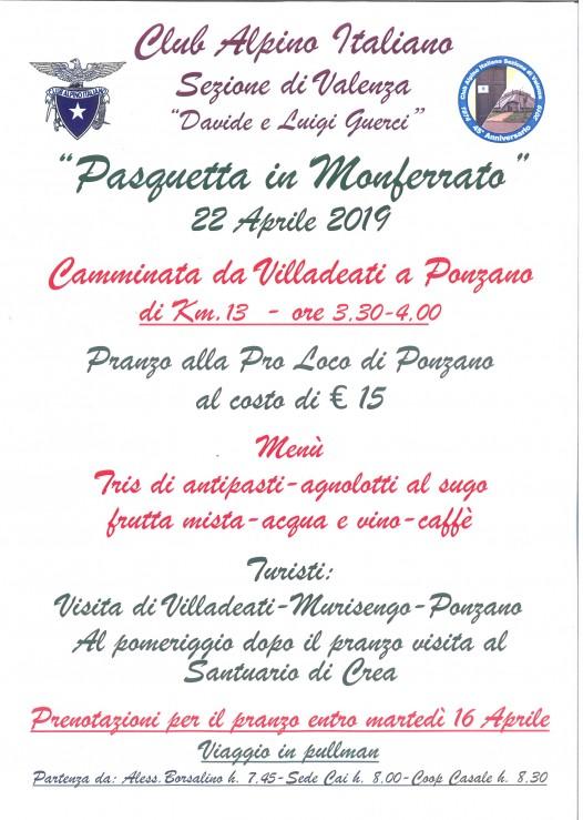 22 Marzo Pasquetta